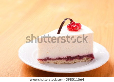 piece of cheesecake with berries