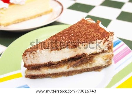 Piece of Chocolate cheesecake