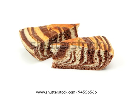 Piece of Chocolate Marble Cake