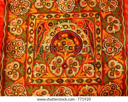 piece of indian art - stock photo