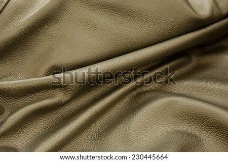 piece of leather - stock photo