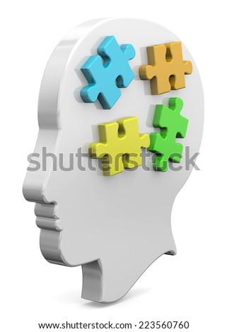 Piece of Mind Concept - 3D - stock photo