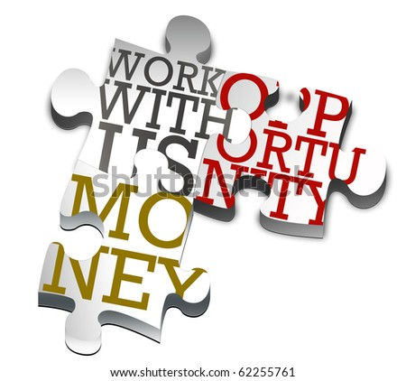 Piece of puzzle - business - stock photo