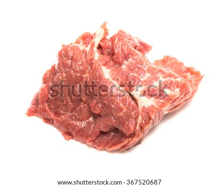 piece of raw meat horse meat
