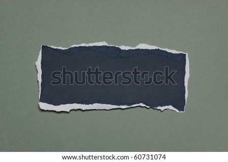 Piece of Rip Paper with white edges against a green background