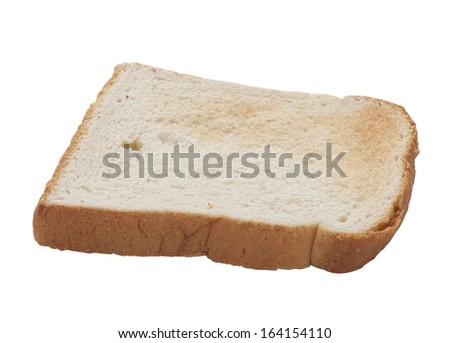 Piece of toast isolated on white