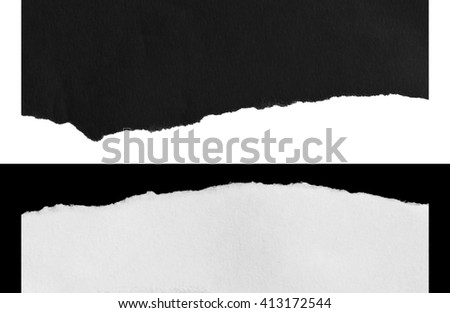 Piece of torn paper, Ripped paper, space for copy - stock photo