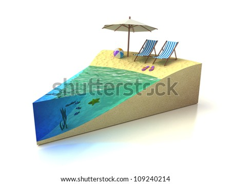 Piece of Vacation - beach rest concept - stock photo