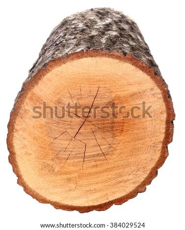 Piece of wood Timber lumber balk beam - stock photo