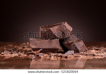 Pieces dark chocolate