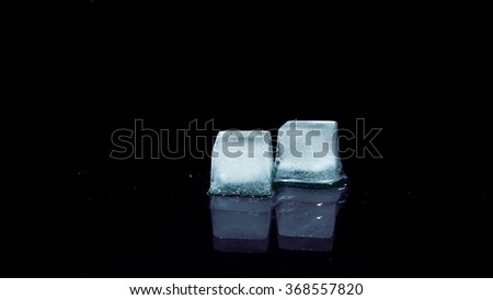Pieces of melting ice - stock photo