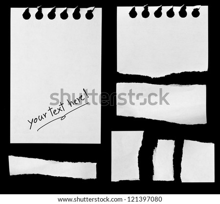 Pieces of notepaper - stock photo