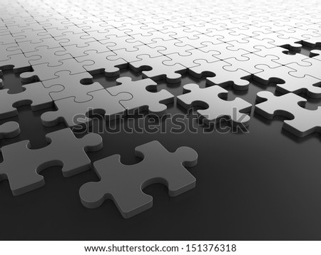 Pieces of Puzzle - stock photo