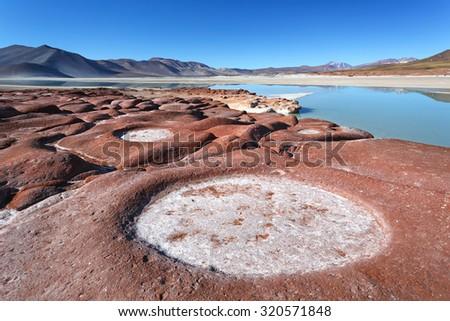 Piedras rojas, Atacama desert, Chile - stock photo