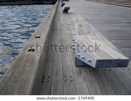Pier at Docklands (Australia) - stock photo
