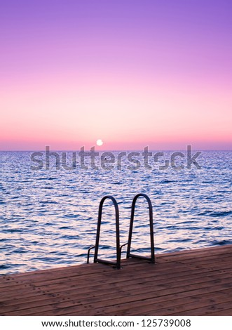 Pier at Heavenly Sunset