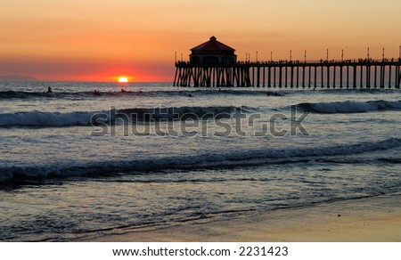 Pier at Sunset.