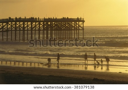 Pier by sunset
