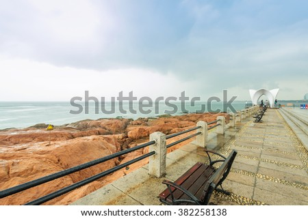 Pier in Qingdao coast