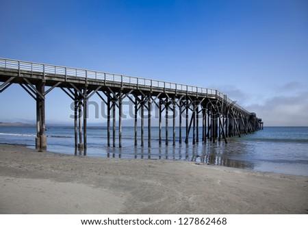 Pier in San Simoen  California - stock photo