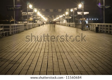 pier in sopot - stock photo
