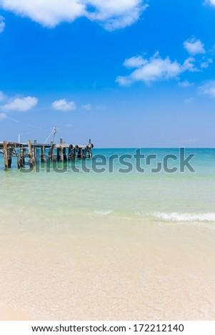pier in thailand - stock photo