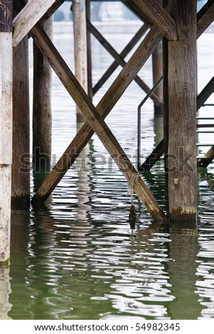 Pier Lake of Constance - stock photo