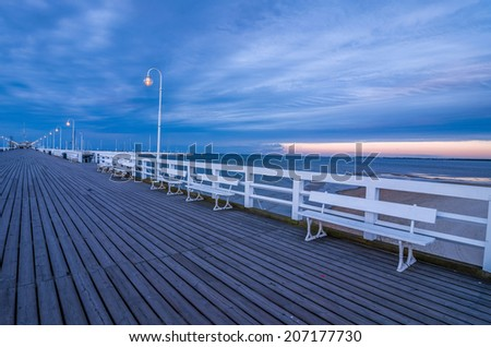 Pier of Sopot, local people call it Molo. Taken in Sopot, Poland