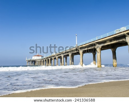 Pier on a coast of the United States - stock photo