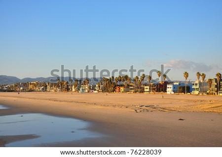 Pier on the West Coast America - stock photo