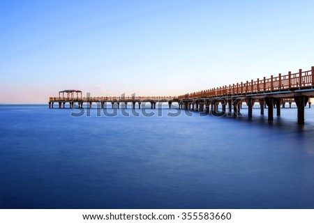 pier or bridge on sea in Ansan, South Korea