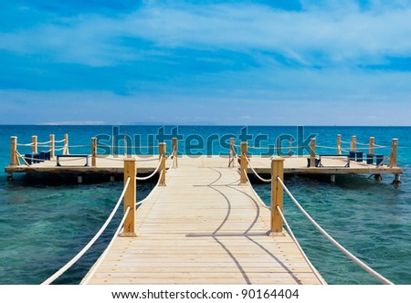 Pier over Waters - stock photo