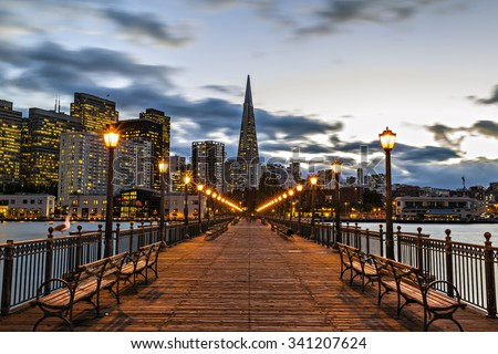 Pier 7 Port of San Francisco - stock photo