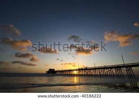 Pier Sunset - stock photo