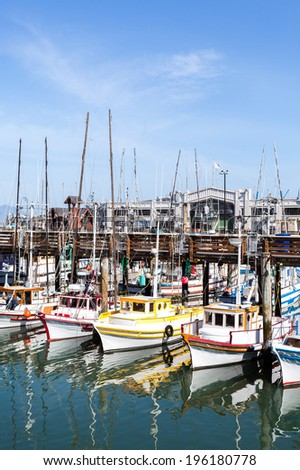 Pier with boats in San Francisco