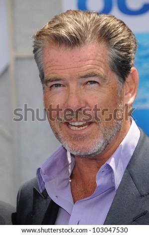 "Pierce Brosnan  at the ""Oceans"" Los Angeles Premiere, El Capitan Theatre, Hollywood, CA. 04-17-10 - stock photo"