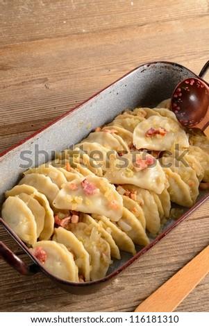 Pierogi.Polish  dish - stock photo