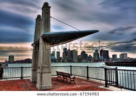 Piers Park in Boston, USA. - stock photo