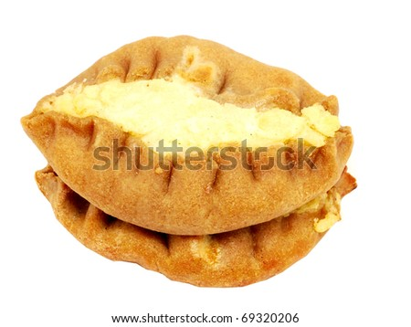 Pies on a white background