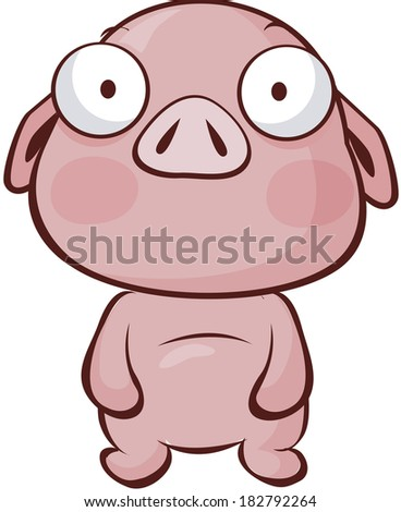 Pig isolated over white background
