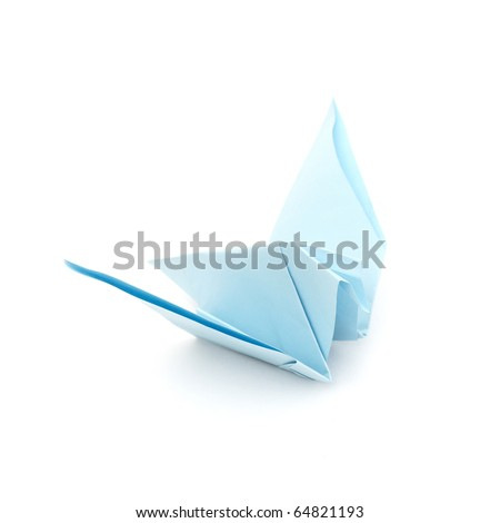 Pigeon from a paper in a kind origami