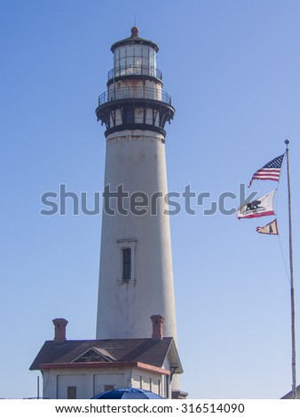 Pigeon Point Lighthouse is a lighthouse built in 1871 to guide ships on the Pacific coast of California.
