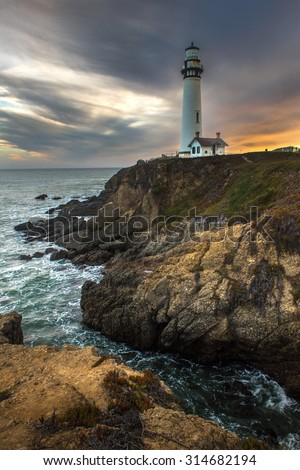 Pigeon Point Lighthouse, Landmark of Pacific coast