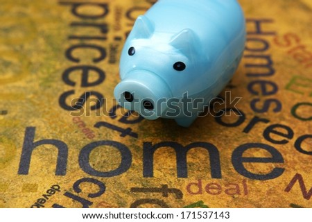 Piggy bank and home concept