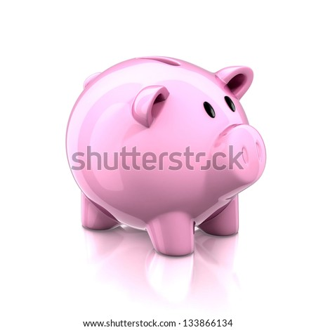 piggy bank 3d illustration - stock photo