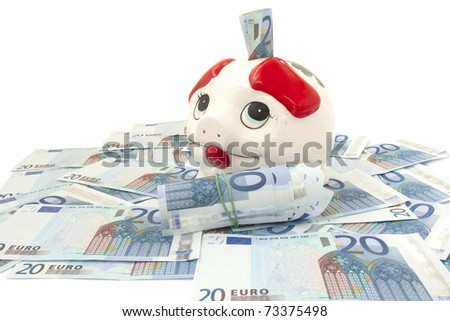 Piggy bank for money, isolated on white background