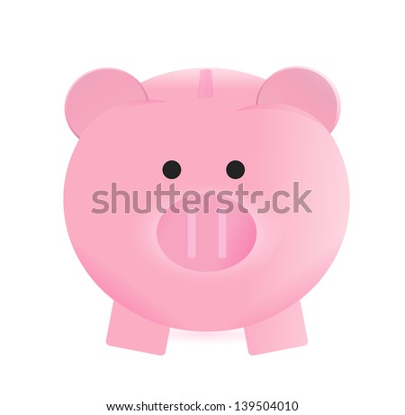 piggy bank illustration design over a white background