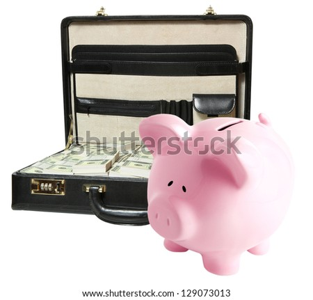 Piggy bank isolated on white background