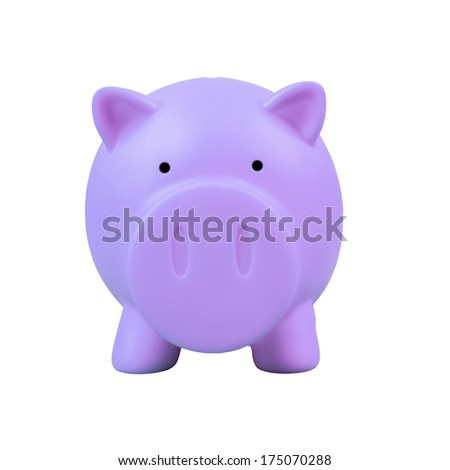 Piggy bank on white background
