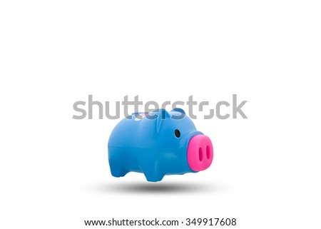 piggy bank or money box isolated on white background, with clipping path - stock photo